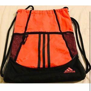 adidas coral drawstring bag